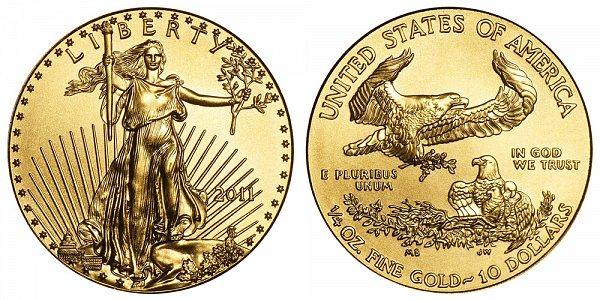 2011 Quarter Ounce American Gold Eagle - 1/4 oz Gold $10