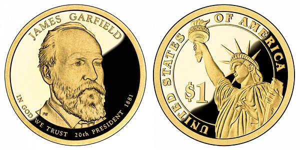 2011 S Proof James A. Garfield Presidential Dollar Coin