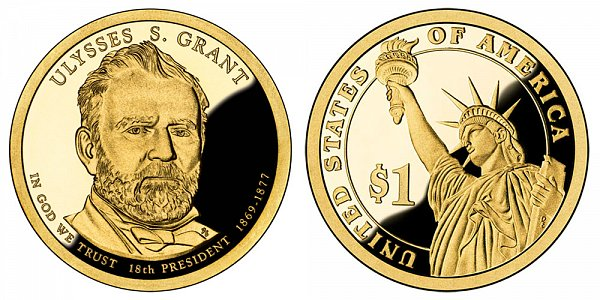 2011 S Proof Ulysses S. Grant Presidential Dollar Coin