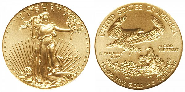 2011 Tenth Ounce American Gold Eagle - 1/10 oz Gold $5