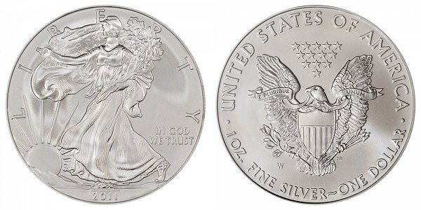 2011 W Burnished Uncirculated American Silver Eagle