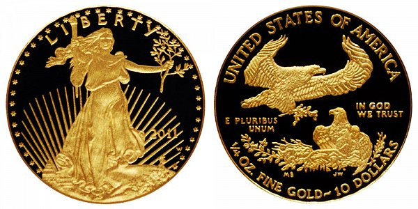 2011 W Proof Quarter Ounce American Gold Eagle - 1/4 oz Gold $10