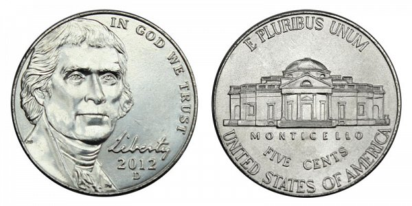 2012 D Jefferson Nickel
