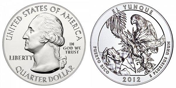 2012 El Yunque 5 Ounce Bullion Coin - 5 oz Silver