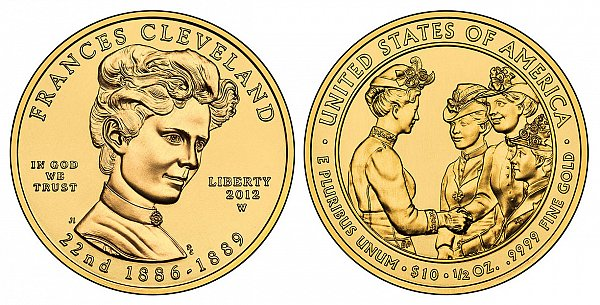 2012 Frances Cleveland 1st Term First Spouse Gold Coin