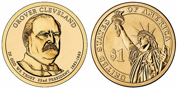 2012 D Grover Cleveland 1st Term Presidential Dollar Coin