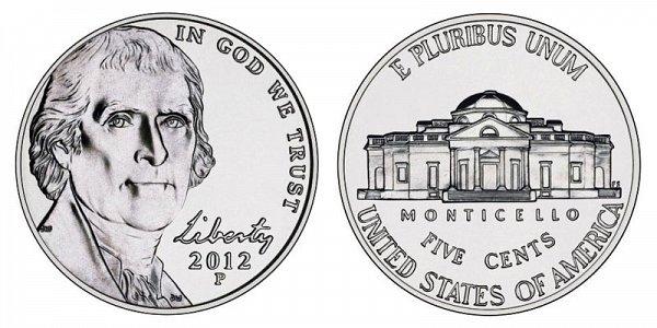 2012 P Jefferson Nickel