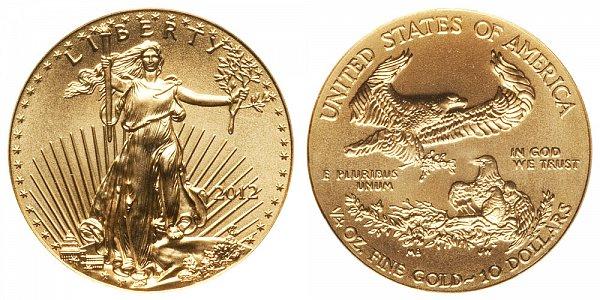 2012 Quarter Ounce American Gold Eagle - 1/4 oz Gold $10