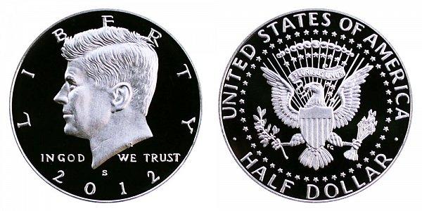 2012 S Silver Kennedy Half Dollar Proof