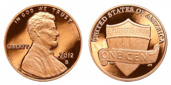2012 S Lincoln Shield Cent Penny