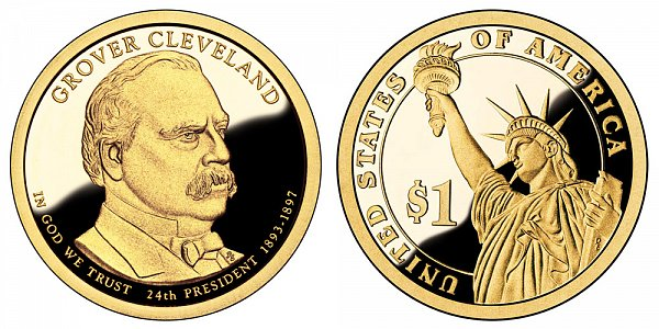 2012 S Proof Grover Cleveland 2nd Term Presidential Dollar Coin