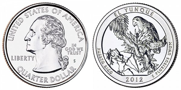 2012 S Uncirculated El Yunque National Forest Quarter - Puerto Rico