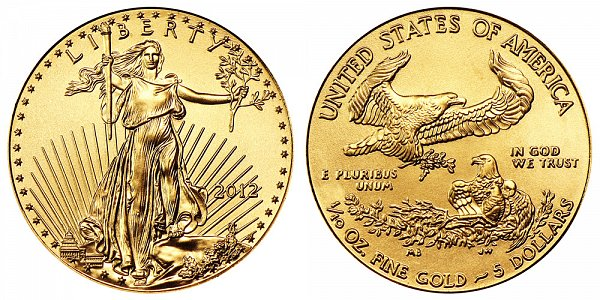 2012 Tenth Ounce American Gold Eagle - 1/10 oz Gold $5