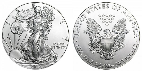 2012 Bullion American Silver Eagle