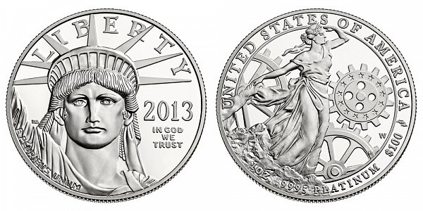 2013 W Proof One Ounce American Platinum Eagle - 1 oz Platinum $100