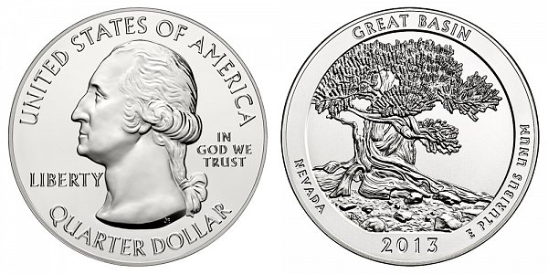 2013 Great Basin 5 Ounce Bullion Coin - 5 oz Silver