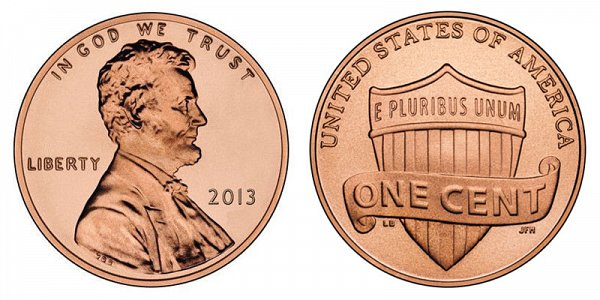 2013 Lincoln Shield Cent Penny