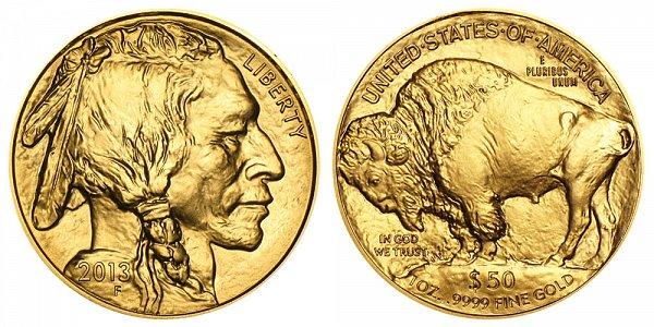 2013 One Ounce Gold American Buffalo - 1 oz Gold $50