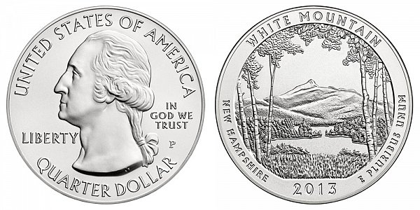 2013 White Mountain 5 Ounce Burnished Uncirculated Coin - 5 oz Silver