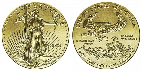 2013 Quarter Ounce American Gold Eagle - 1/4 oz Gold $10