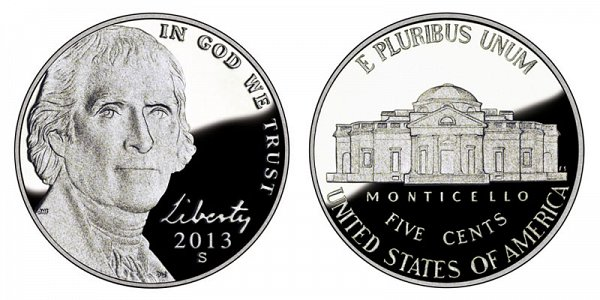 2013 S Jefferson Nickel Proof