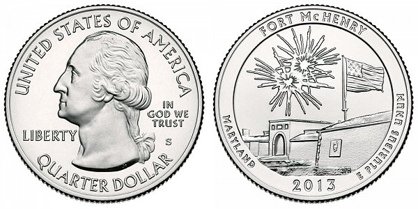 2013 S Uncirculated Fort McHenry National Monument and Historic Shrine Quarter - Maryland