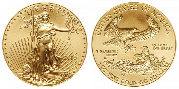 2013 W Burnished Uncirculated One Ounce American Gold Eagle - 1 oz Gold $50