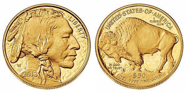 2013 W Proof One Ounce Gold American Buffalo - 1 oz Gold $50
