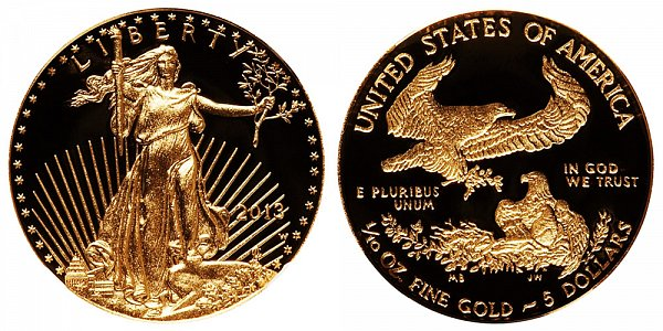 2013 W Proof Tenth Ounce American Gold Eagle - 1/10 oz Gold $5