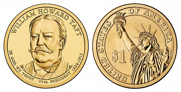 2013 D William Howard Taft Presidential Dollar Coin