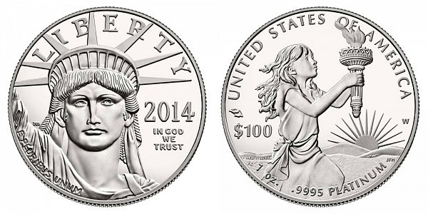 2014 American Platinum Eagle - 1oz ounce proof