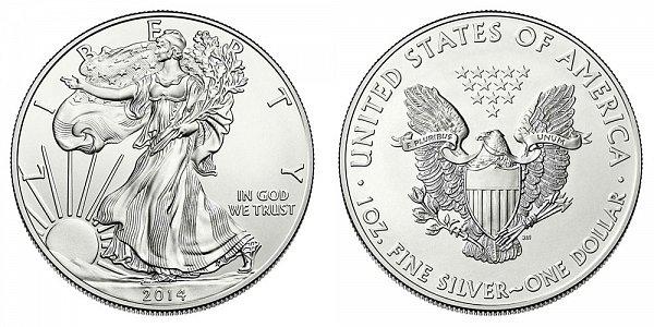 2014 Bullion American Silver Eagle