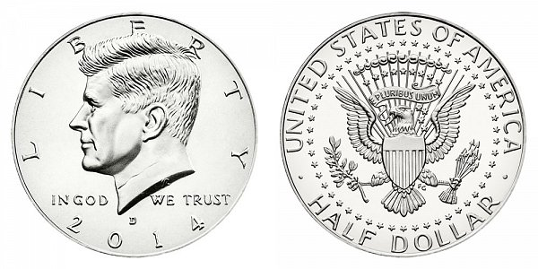 2014 D Silver Uncirculated Kennedy Half Dollar
