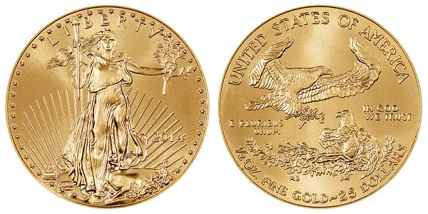 2014 Half Ounce American Gold Eagle - 1/2 oz Gold $25