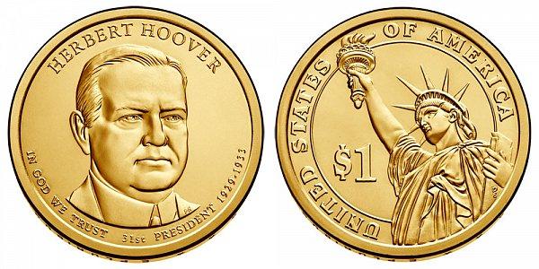 2014 D Herbert Hoover Presidential Dollar Coin