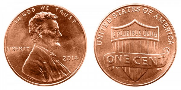 2014 Lincoln Shield Cent Penny