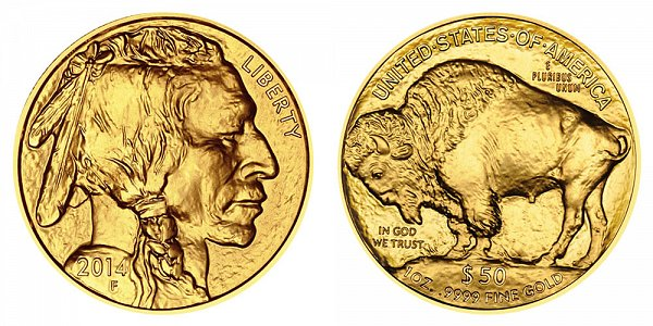2014 American Gold Buffalo - Bullion $50 1oz One Ounce Gold