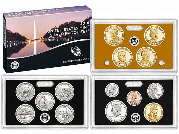 2014-S United States Silver Proof Set - 14 Piece Set - All Coins