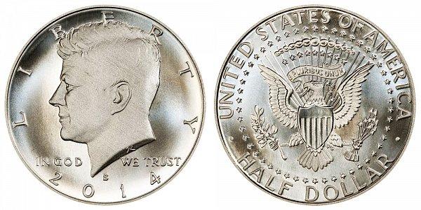 2014 S Enhanced Uncirculated Silver Kennedy Half Dollar