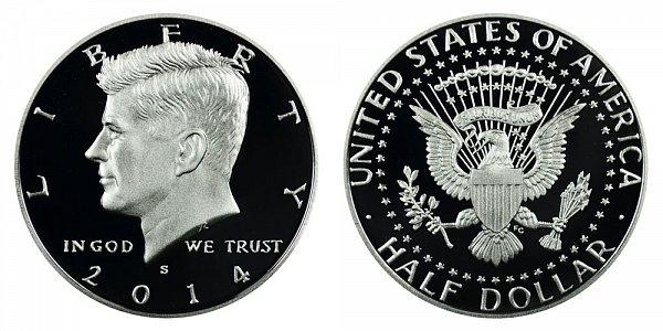 2014 S Silver Kennedy Half Dollar Proof