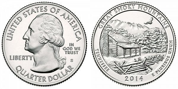 2014 S Uncirculated Great Smoky Mountains National Park Quarter - Tennessee