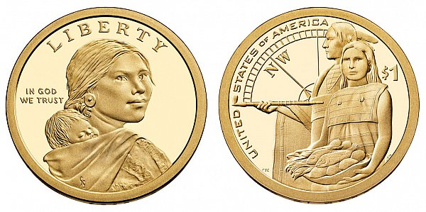 2014 Native American Dollar Coin - Native Hospitality