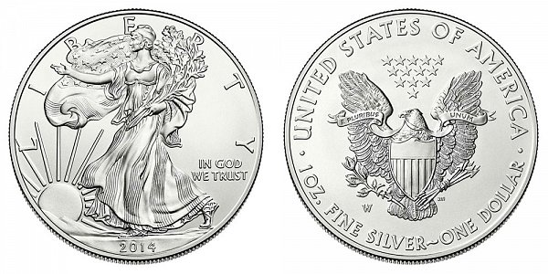 2014 W Burnished American Silver Eagle
