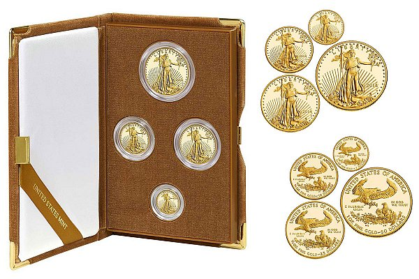 2014 W Gold American Eagle 4-Coin Proof Set