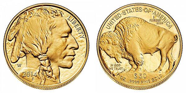 2014 W One Ounce American Gold Buffalo - $50 1oz Gold