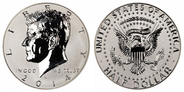 2014 W Reverse Proof Kennedy Half Dollar