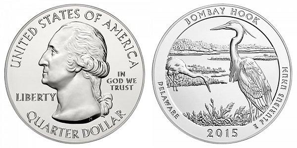 2015 Bombay Hook Parkway 5 Ounce Bullion Coin - 5 oz Silver