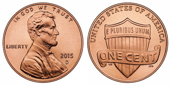 2015 D Lincoln Shield Cent Penny