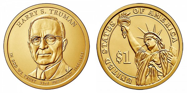 2015 P Harry S. Truman Presidential Dollar Coin