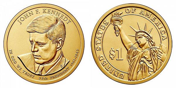 2015 D John F. Kennedy Presidential Dollar Coin